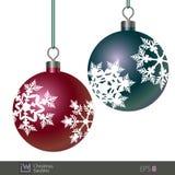 Bagattelle di Natale modellate fiocco di neve Immagine Stock