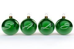 Bagattelle di vendita di Natale Fotografia Stock Libera da Diritti