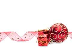 Bagattelle rosse di Natale Fotografia Stock Libera da Diritti