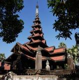 Bagaya Kyaung. Inwa (Ava), Myanmar (Burma) Stock Images