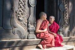 Bagaya Kyaung kloster Fotografering för Bildbyråer