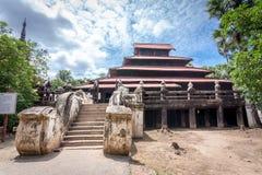 Bagaya Kyaung monastery, built of teak in 1838, ancient city Inwa (Ava) Mandalay - Myanmar Stock Photo
