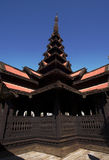 Bagaya Kyaung, teak monastery, Burma Royalty Free Stock Images