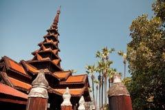 Bagaya Kyaung Teak Monastery Royalty Free Stock Photos