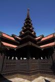 Bagaya Kyaung, teakklooster, Birma Royalty-vrije Stock Afbeeldingen