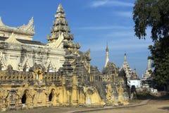 Bagaya Monastery - Innwa (Ava) - Myanmar (Burma). The ruins of the Bagaya Monastery in the ancient city of Innwa (Ava) near Mandalay in Myanmar (Burma Royalty Free Stock Photos