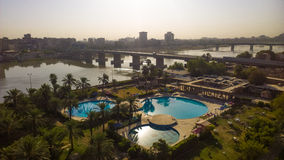 Bagdad bij Zonsopgang stock afbeelding