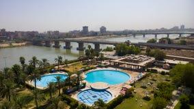 Bagdad bij Zonsopgang Stock Foto