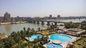 Bagdad en la salida del sol Imágenes de archivo libres de regalías