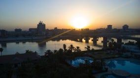 Bagdad en la salida del sol Foto de archivo libre de regalías