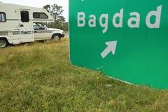 Bagdad Florida freeway sign Stock Images