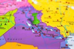 Bagdad Iracka mapa Zdjęcia Royalty Free