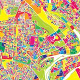 Bagdad, Irak, mappa variopinta di vettore Immagine Stock Libera da Diritti