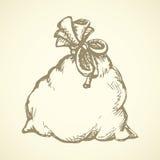 bagel ανασκόπηση που σύρει το floral διάνυσμα χλόης διανυσματική απεικόνιση