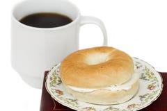 bagel καφές Στοκ Εικόνες