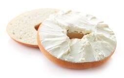 Bagel με το τυρί κρέμας στοκ εικόνες με δικαίωμα ελεύθερης χρήσης