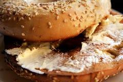 bagel που ψήνεται Στοκ Φωτογραφίες