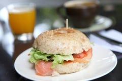 bagel φρέσκος σολομός Στοκ φωτογραφίες με δικαίωμα ελεύθερης χρήσης