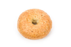 Bagel. Whole Wheat Bagel with white background stock photos