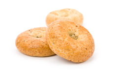 Bagel. Whole Wheat Bagel with white background stock photography
