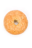 Bagel. Whole Wheat Bagel with white background royalty free stock photos