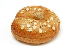 Bagel. Freshly baked bagel on a white background royalty free stock images