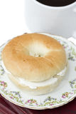 Bagel And Coffee Royalty Free Stock Photos