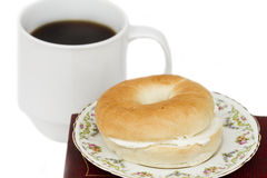 Bagel And Coffee Stock Images