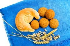 Bagel avec des biscuits de farine d'avoine Images libres de droits