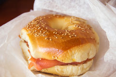 A bagel, Beigel Royalty Free Stock Photo