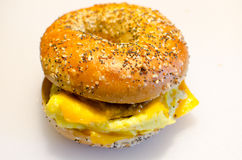Bagel Breakfast Sandwich Royalty Free Stock Images