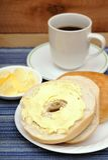 Bagel butter cream Stock Image