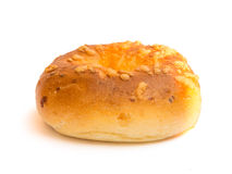 Bagel with cheese on top Royalty Free Stock Photo
