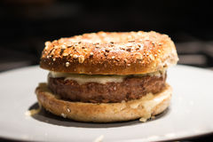 Bagel cheeseburger from Montreal Royalty Free Stock Photography