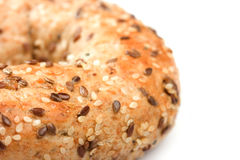 Bagel close-up Royalty Free Stock Images