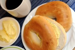 Bagel  coffee Stock Photography