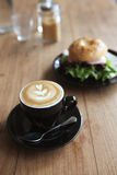 Bagel with coffee Royalty Free Stock Image