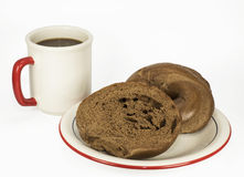Bagel and Coffee Royalty Free Stock Images