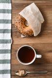 Bagel Coffee Sugar Royalty Free Stock Images