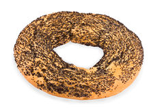 Bagel covered with a poppy Stock Image