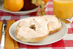 Bagel and cream cheese Stock Photography