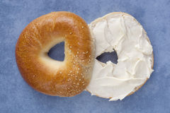 Bagel with Cream Cheese stock image