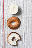 Bagel and Cream Cheese Royalty Free Stock Photography