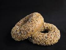 Bagel del seme di lino Fotografia Stock Libera da Diritti