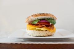 Bagel do café da manhã Imagens de Stock Royalty Free