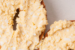 Bagel and egg salad Stock Photography