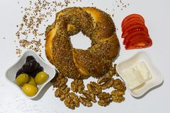 bagel fasta food sposobu rkish s simit t turkish Obrazy Royalty Free