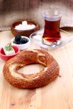 bagel fasta food sposobu rkish s simit t turkish Obraz Stock