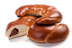 Bagel with jam Stock Images