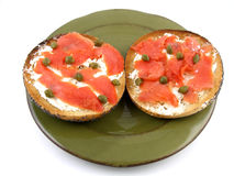 Bagel & lox Royalty Free Stock Images